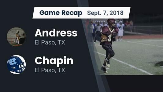 Football Game Recap: Andress vs. Frenship