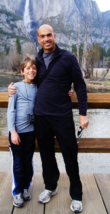 Aaron and his father Alan Hern during a recent trip to Yosemite National Park.