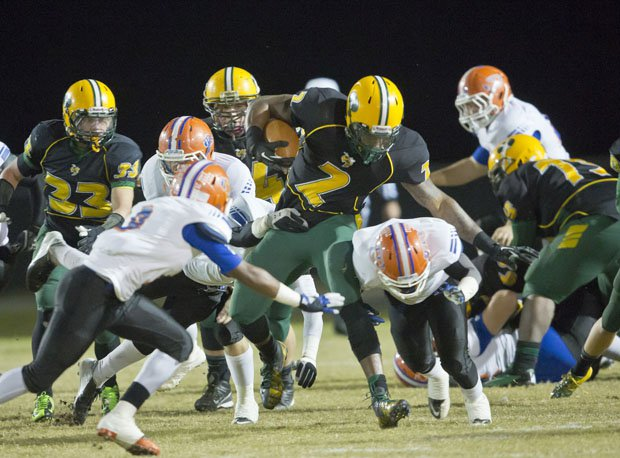 Yulee's Derrick Henry runs for some of his 482 yards in 2012 on the night be broke the national career rushing mark.