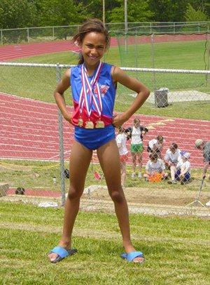 Alexa Harmon-Thomas experienced track and fieldsuccess at a young age.