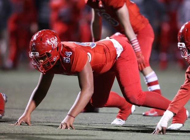 Arbor View's Tai Tuinei is always ready for action.