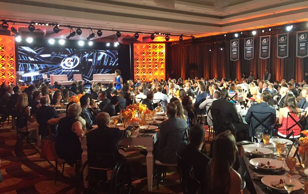 The impressive setting at the LA Hotel Downtown, site of the 2016 Gatorade Athlete of the Year ceremony.