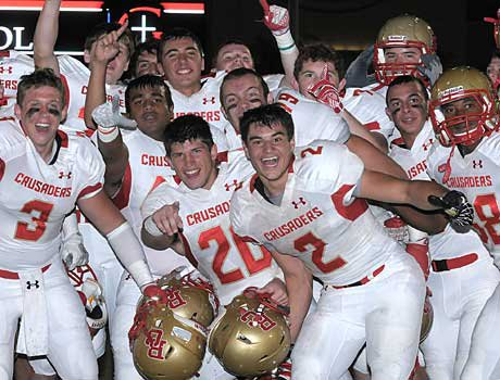 Bergen Catholic celebrated a signature victory on the road against Bishop Gorman.