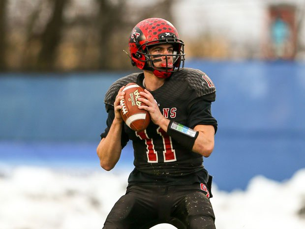 Glens Falls quarterback Joe Girard won the team's second state title in three years.