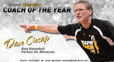 Dave Cresap directed Perham's basketball team and community during a challenging and championship season.