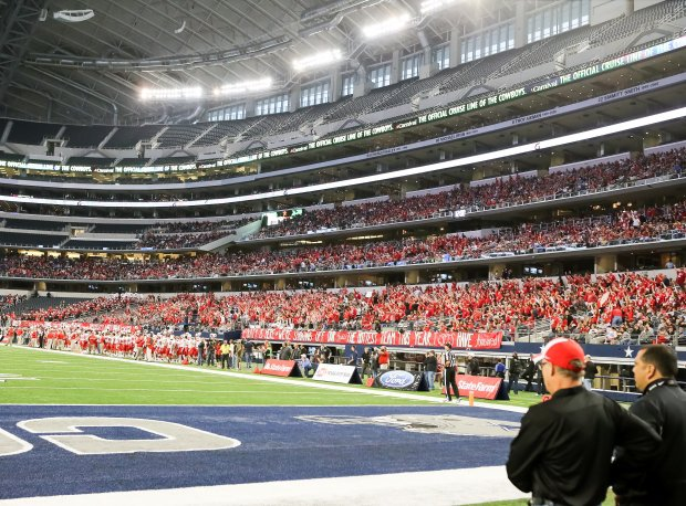 A big crowd was on hand to see Cedar Hill face Katy in the 2014 Class 6A Division II final.