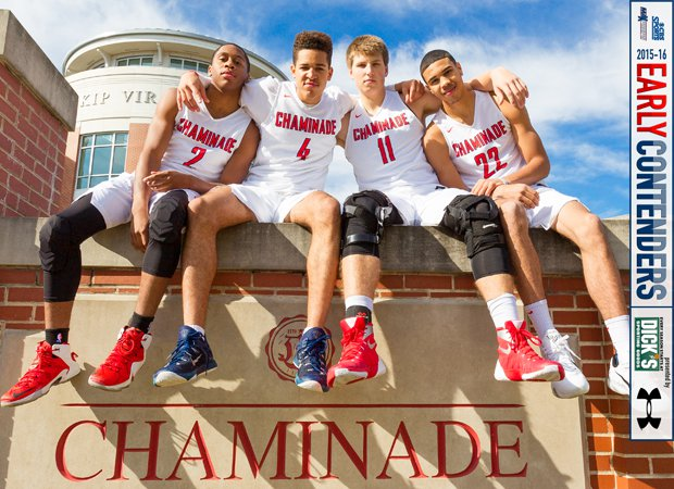 Chaminade possesses a wealth of talent on its roster this season, including players (left to right) Michael Lewis II, Jericole Hellems, Will Gladson and Jayson Tatum.