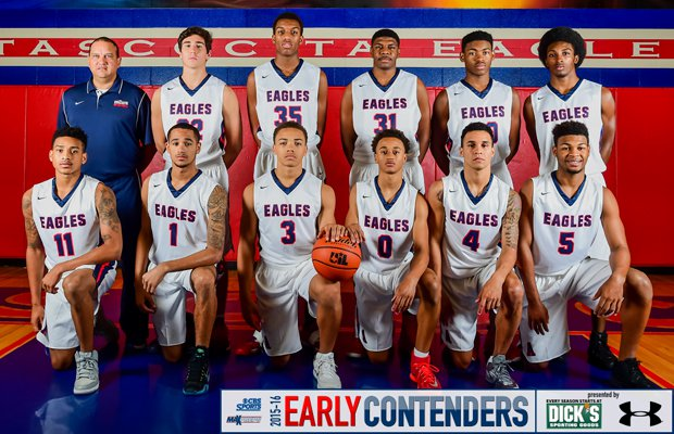 Head coach David Martinez and his 2015-16 Atascoita basketball squad