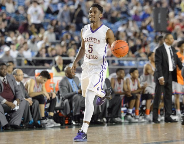 Jaylen Nowell is one of two University of Washington commitments on the roster at Garfield.