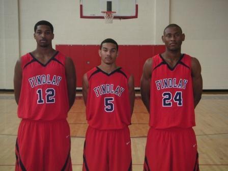 Findlay Prep returnees (from left) Tristan Thompson, Cory Joseph and Godwin Okonji.