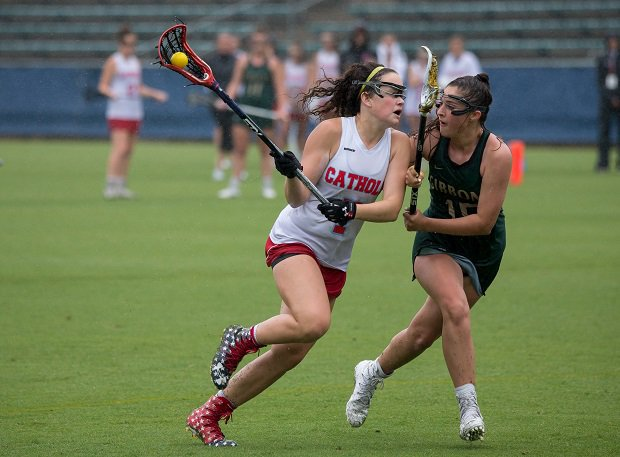 Charlotte Catholic girls lacrosse was a North Carolina state runner-up in 2018.