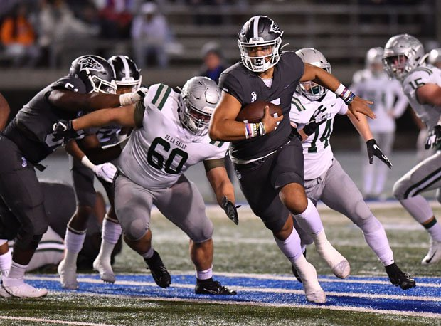 Bosco quarterback DJ Uiagalelei threw for four touchdowns and had a team-high 64 yards rushing on just five carries.