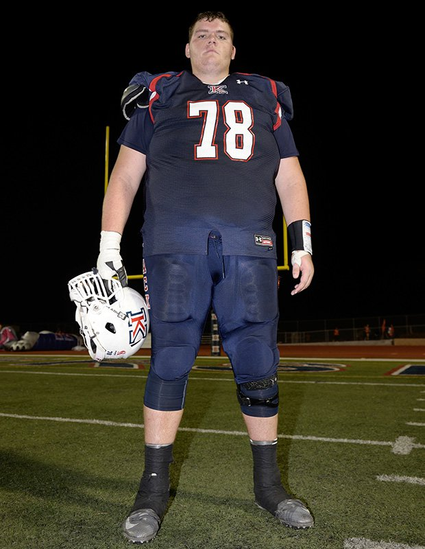 Krahn is probably the world's biggest football player at 7-foot, 440 pounds.