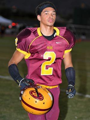 Receiver Jalen Brown had two touchdown receptions.