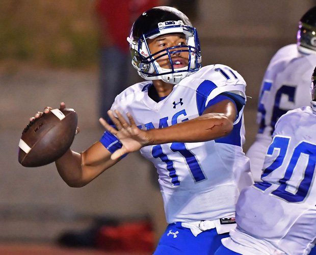 IMG Academy quarterback Kellen Mond threw for over 400 yards and accounted for five touchdowns - four passing and one on the ground.