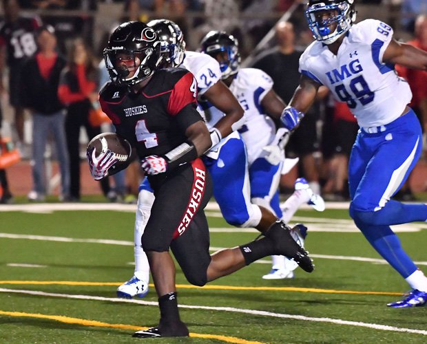 Centennial running back Miles Reed had 162 yards rushing and scored three touchdowns.