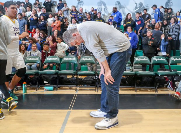Cancer-stricken Danny O'Fallon can barely stand shortly after his Roybal team won its first Los Angeles Section championship in school history last month.