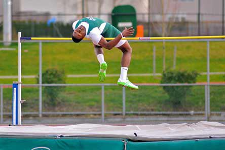 Kasen Williams cleared 6 feet, 10 inches to win the 4A high jump competition in Washington. Williams also won the triple jump and the long jump.