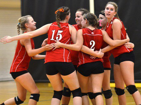 The Otis volleyball team has had plenty of reason to celebrate of late, having played in four consecutive Class 1A state title games.