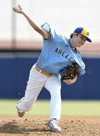 Jaden Agassi throws during recent Area Code Games.