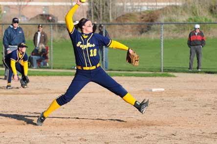 Sara Driesenga is rewriting the Michigan softball record books and is gunning to lead Hudsonville to a third-straight state title.