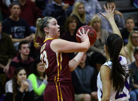 The Golden girls basketball team, led by University of Ohio signee Abby Garnett, left, is one of the favorites in Class 4A this season. The Demons are part of a powerhouse Jeffco League that is perhaps the state's best.