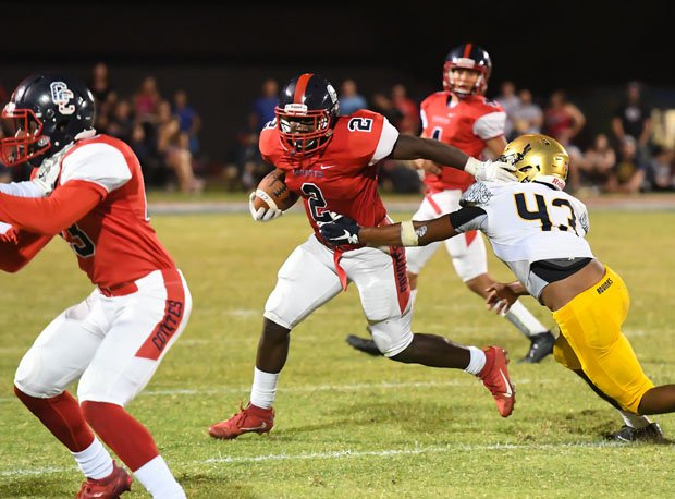 Centennial running back Zidane Thomas, a Florida native, rushed for 113 yards, including a game-clinching  56-yard touchdown late.