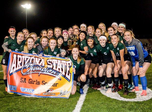 Campo Verde celebrates its Arizona 5A championship win over Millennium.