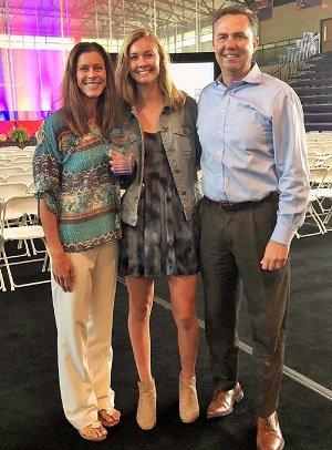 Hart's parents, Sarah and Greg, both  were Division I swimmers at North Carolina.