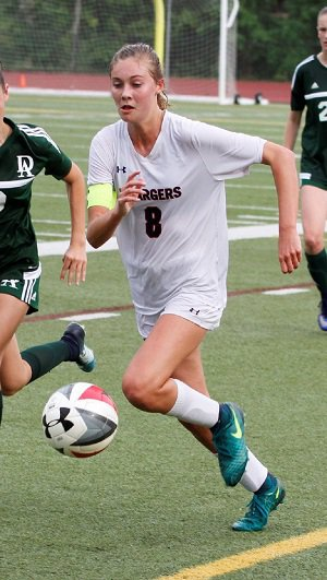 Hart shifted positions for her junior campaign  and increased her scoring output to 23 goals.
