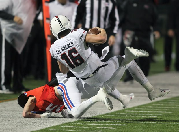 Charlie Brewer led Lake Travis to a 51-3 thrashing of rival Westlake.