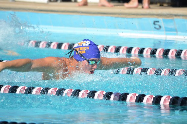 Richard Kovalcik flourishes in all events, but especially the breaststroke.