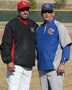 Weiss and Johnson before their game in  March, 2012.