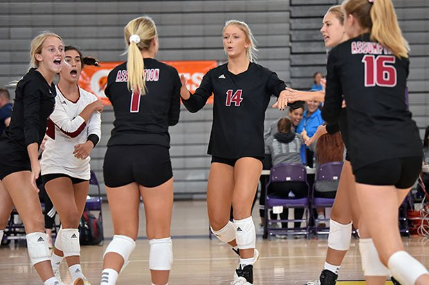 Anna DeBeer (14) and teammates at the Durango Fall Classic last September.