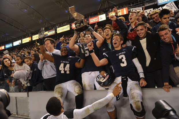 St. John Bosco celebrates its 2013 state title win and lands at No. 48 on the list of the 50 greatest high school football teams of all time.