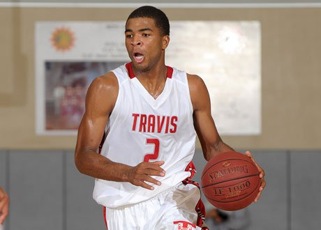Aaron Harrison has been the story at the MaxPreps Holiday Classic through three days, averaging 32.3 points per game and leading Fort Bend Travis to Saturday's final.