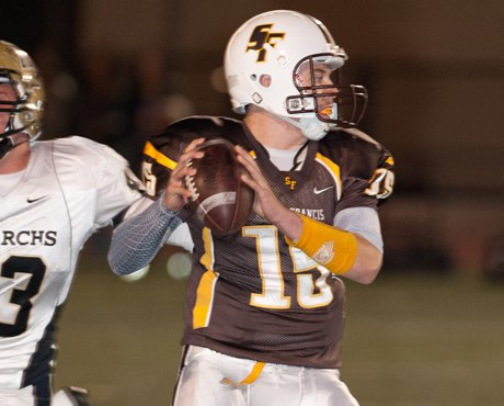 St. Francis quarterback Mike Lauk accounted for four touchdowns in a 41-7 win over Aragon on Friday.