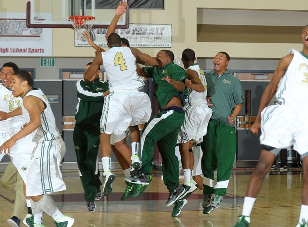 Long Beach Poly celebrates the wild and unlikely victory.