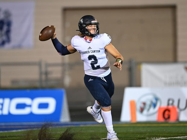 Corner Canyon (Draper, Utah) quarterback Jaxson Dart entered last week second in the country in yards passing and  touchdown passes.