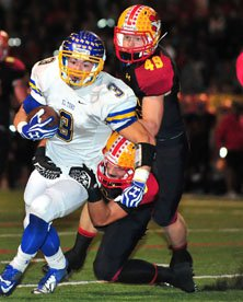 El Toro couldn't get away from the Mission Viejo defense all night.