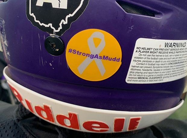Bellbrook (Ohio) High School's football team will wear #StrongAsMudd stickers for the rest of the season in honor of former Clinton-Massie (Clarksville, Ohio) coach Brian Mudd.