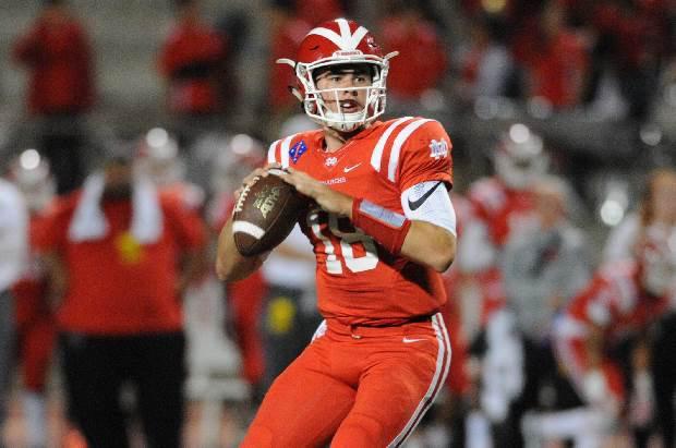 Mater Dei quarterback J.T. Daniels has thrown for 16 touchdowns in five games this season.