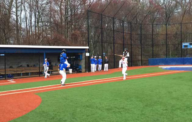 It looked like a scene from Medieval Times at a Connecticut high school baseball game this week.