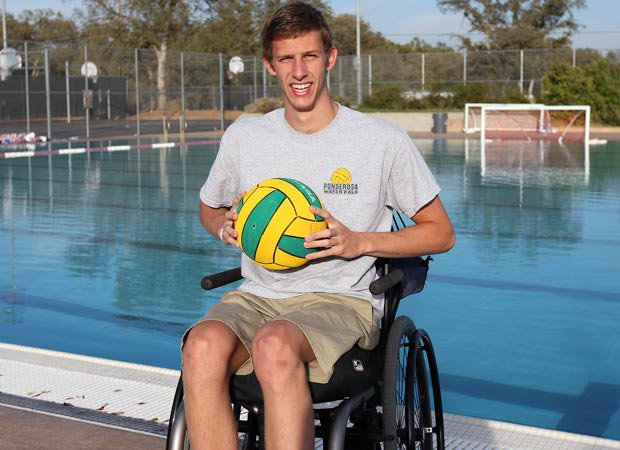 Zach Pickett, 17, is believed to be the only paraplegic high school water polo player in the country. The Ponderosa senior shattered his seventh vertebra and spinal cord in a 2012 diving accident but it hasn't shattered his dreams of living a full and athletic life.