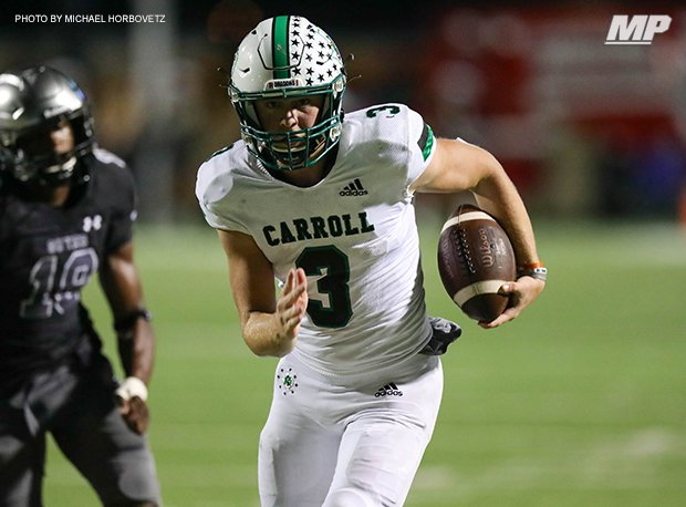 Southlake Carroll's Quinn Ewers is 2022's No. 1 prospect in Texas according to 247sports.com. He holds 27 offers.