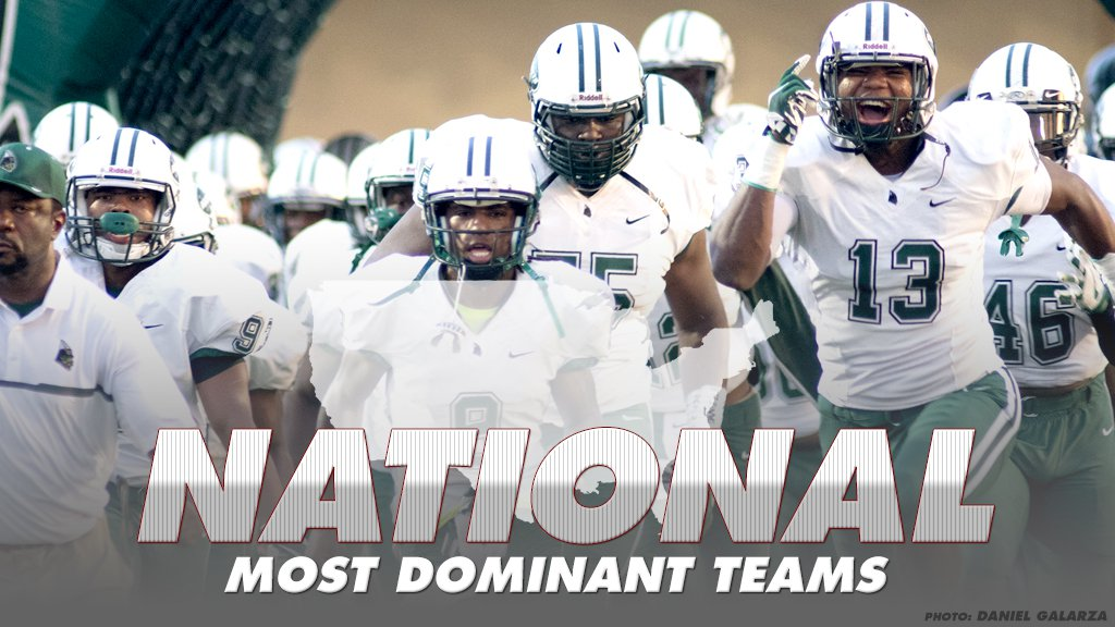 Most dominant high school football programs of the last 10 years
