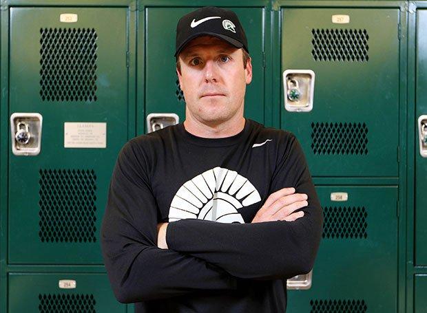 Head coach Justin Alumbaugh