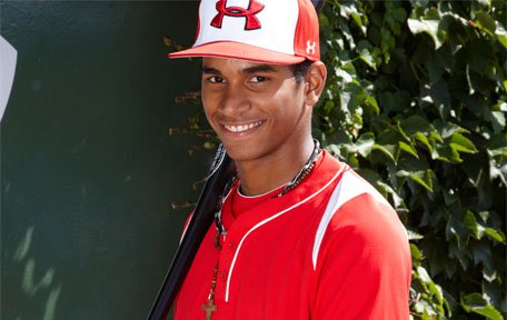 Oscar Mercado brings a stellar glove and loads of potential to the field. Expect to hear his name in the MLB Draft.