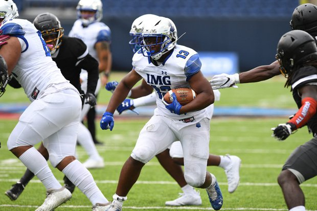 Kaytron Allen ran for 194 yards and four TDs as IMG Academy beat La Salle 58-7 on Friday.