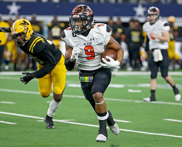 Aledo senior running back Jase McClellan rushed for 218 yards and two touchdowns.